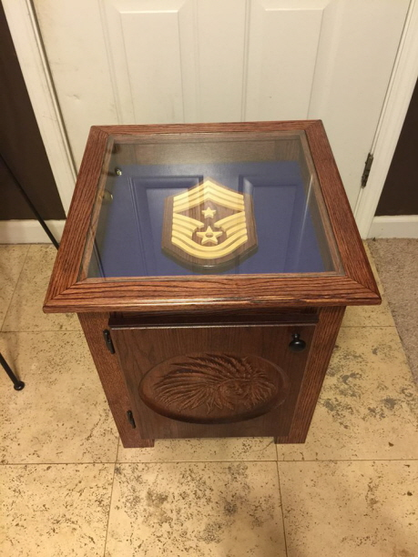 End Table Shadowbox With Logo
